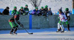 North Dakota Men's Hockey outdoor scrimmage on February 5, 2020. Mandatory Credit: Russell Hons