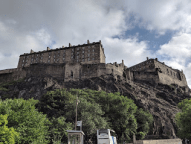Edinburgh Castle, where the Stone of Scone is safe.