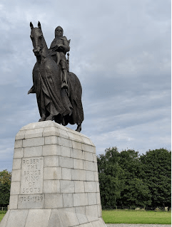 Robert the Bruce at Bannockburn Battleground.