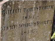 William Wordsworth grave, St. Oswald's Church Cemetery, Grasmere, England. I also visited his Dove Cottage.