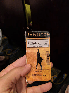 """Hamilton"" was a real highlight. Tickets were cheap in comparison to Broadway. We had terrific seats in the center third row."