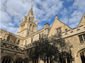 Christ Church College, home of Lewis Carroll, among others.