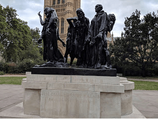 Burghers of Calais by Rodin. Victoria Tower Gardens.