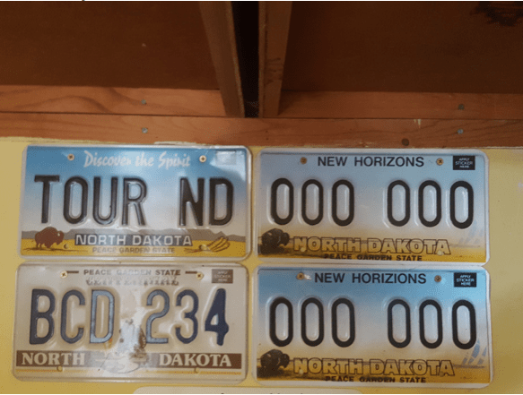 I got to help choose the final design for the North Dakota license plate in 1992. These were some of the possibilities. They're hanging in my garage, a souvenir from my time in state government.