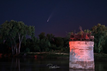 The comet NEOWISE as seen from Grand Forks, North Dakota on July 14, 2020. Russell Hons