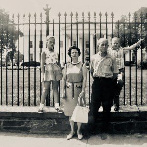 At least someone in the family showed a little personality in front of the White House in the summer of '63.