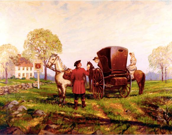 The Boston Postal Road, ca 1800.