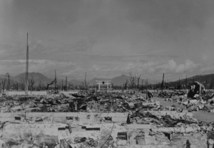 Nagasaki after the dropping of the atomic bomb in 1945. (National Archives)