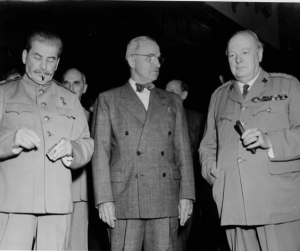 Stalin, Truman and Churchill. (Harry S. Truman Library & Museum)