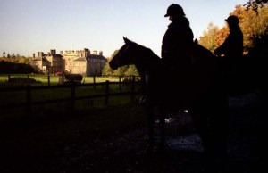 Riders near Dalkeith Palace in Scotland prepare to herd ghosts.