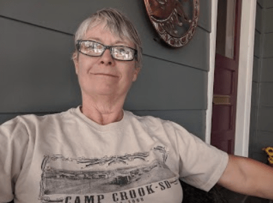 he Camp Crook Centennial T-shirt was purchased when my sisters and I visited Camp Crook on a backroads expedition from Medora, N.D., to Spearfish, S.D. The cookbook was a gift from my mother.