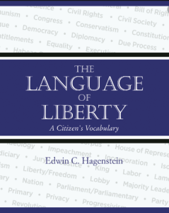 """The cover of the book, """"Language of Liberty."""" (Image courtesy of Rootstock Publishing)"""