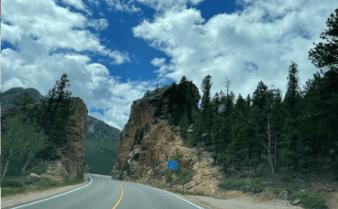 In the Colorado mountains.
