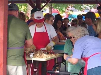 The 125 annual Aneta Turkey Barbecue in June.