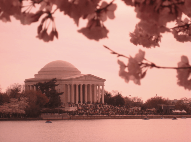 The Thomas Jefferson Memorial in Washington, D,C., reminds us of the third president's conviction that the highest office in the land is that of citizen. (Flickr/ miahz)