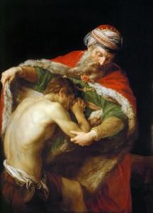 Le retour du fils prodigue par Pompeo Batoni (1773)