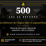 Conférence 21 octobre: La Réforme hier et aujourd'hui