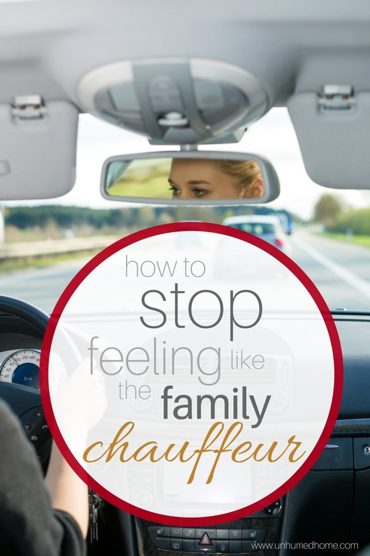 How to Stop Feeling Like the Family Chauffeur