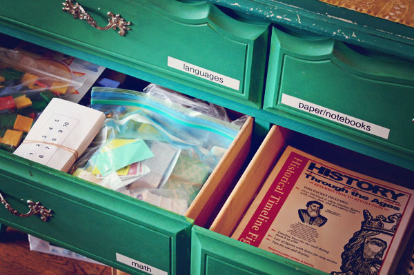 homeschool-organization-drawers