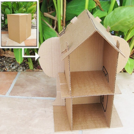 Cardboard Dollhouse Pattern