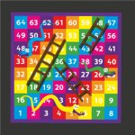 1-64 Snakes & Ladders