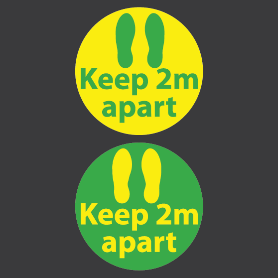 SOCIAL DISTANCING IMAGES 05 - Keep 2m Apart Markers