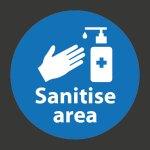 Sanitise Area Marking