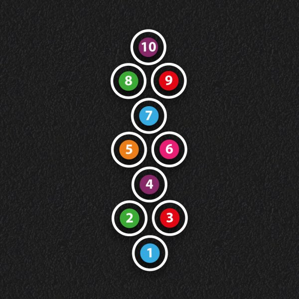 1 10 Circle Hopscotch 1 - Circle Hopscotch