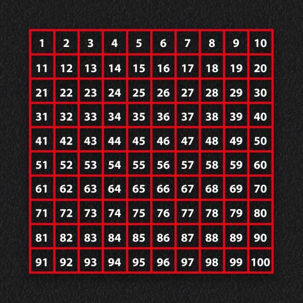 1 100 Grid Outline - Number Grid Outline