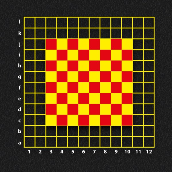 Chess Board with Coordinates Grid - Chess Board with Coordinates Grid