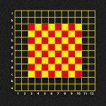 Chess Board with Coordinates Grid