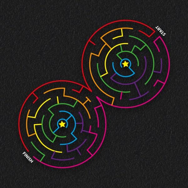 Circular Maze double 1 - Double Circular Maze
