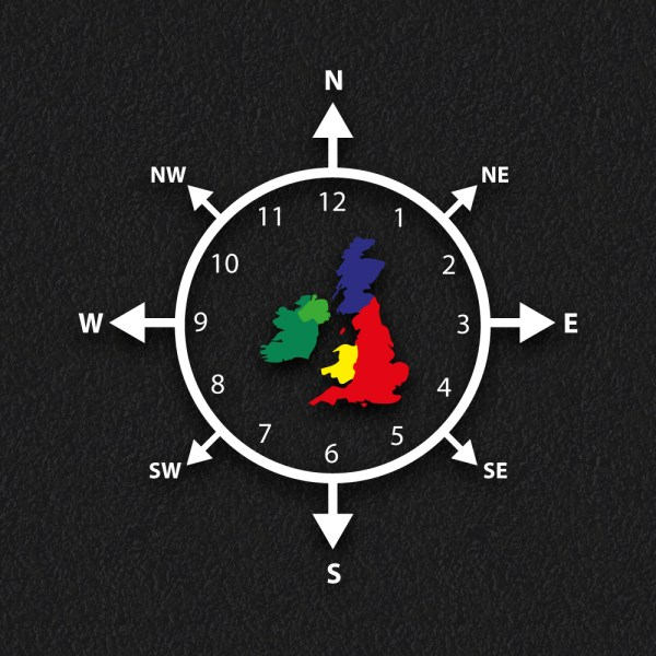 Compass Clock Map - Compass Clock Map
