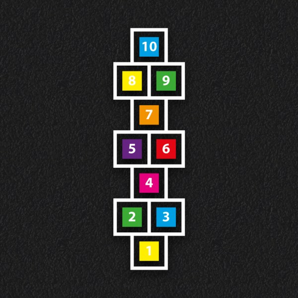 Hopscotch Solid Outline - Hopscotch Solid and Outline
