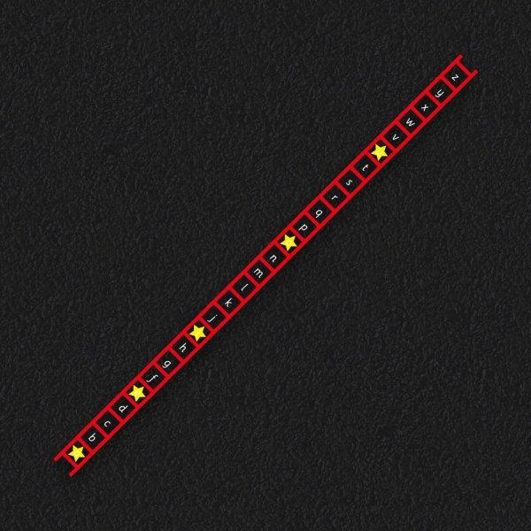 Letter Vowel Ladder 1 - Alphabet Ladder