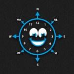 Smiley Face Compass Clock