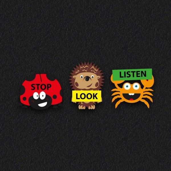 Stop Look Listen Characters New 1 - Stop Look Listen Characters