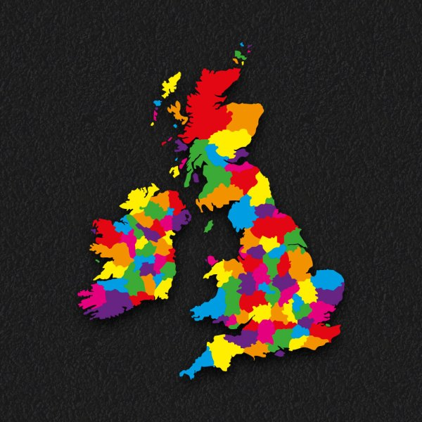 UK Map 5 1 - Counties Map