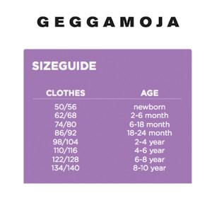Geggamoja 2015 size chart small