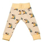 Organic cotton parrot leggings by Doodle do