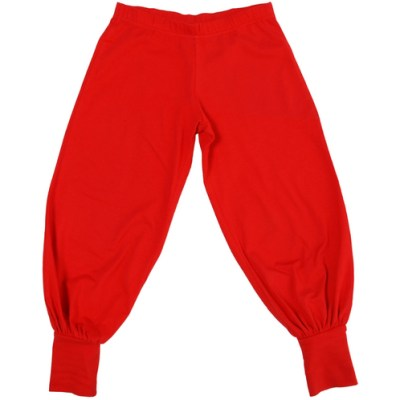 More than a Fling red trousers in organic cotton