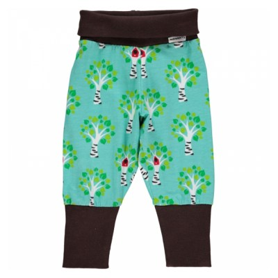 Maxomorra birch tree baby trousers organic cotton SP17