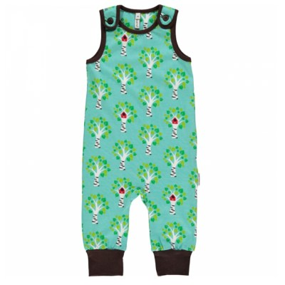 Maxomorra birch tree dungarees organic cotton SP17