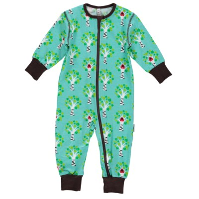 Maxomorra birch tree sleepsuit romper organic cotton SP17