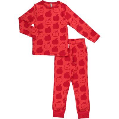 Maxomorra organic cotton pyjamas mono red apple