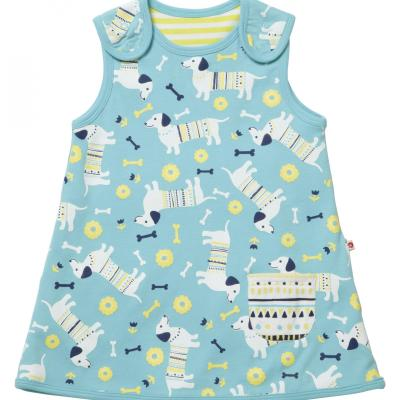 Piccalilly organic sausage dog reversible dress