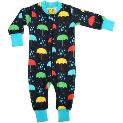 DUNS Sweden dark umbrellas zip onesie