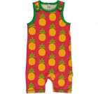 Pineapple short playsuit dungarees by Maxomorra in organic cotton