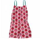Maxomorra strawberry print organic cotton jumpsuit