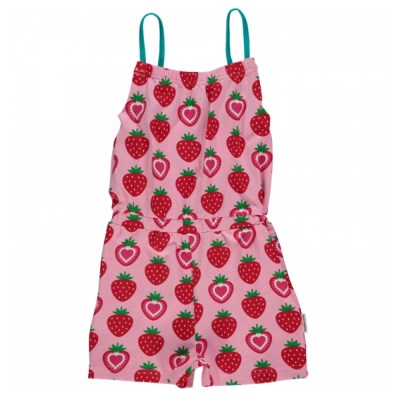 Maxomorra strawberry organic cotton jumpsuit